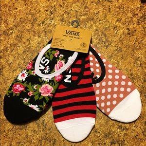 Vans socks 3 pack NWT